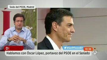 """Óscar López, ambiguo sobre la posición de los socialistas: """"El PSOE no se presenta para que gobierne el PP"""""""