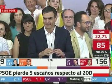"""Pedro Sánchez: """"Somos la primera fuerza política de la izquierda"""""""