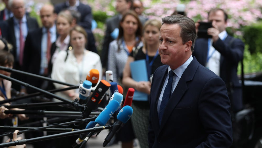 David Cameron, a su llegada a la cumbre en Bruselas