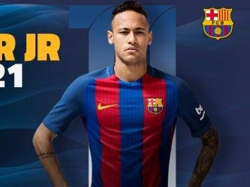 Neymar renovado con el Barcelona