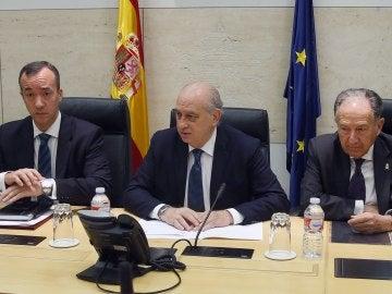 Jorge Fernández Díaz comparece tras celebrarse la mesa de valoración de amenaza terrorista.