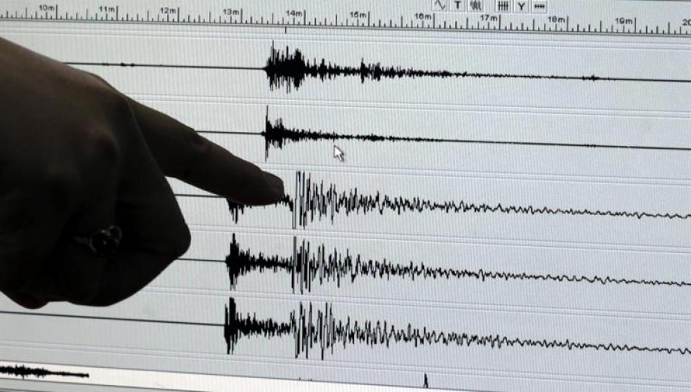Actividad sísmica registrada durante un terremoto
