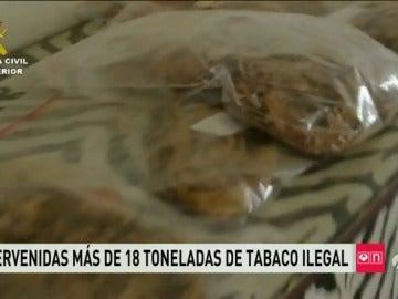 La Guardia Civil se incauta más de 18 toneladas de tabaco ilegal en Elche