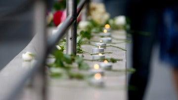 Velas en homenaje a las víctimas del tiroteo en Múnich
