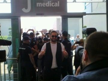 Gonzalo Higuaín, a su llegada a Turín