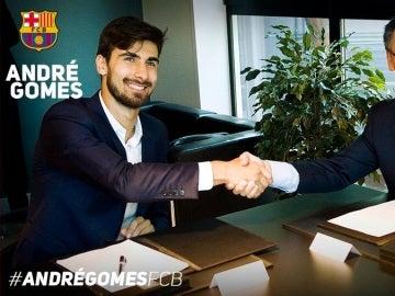 André Gomes, presentado como nuevo jugador del FC Barcelona