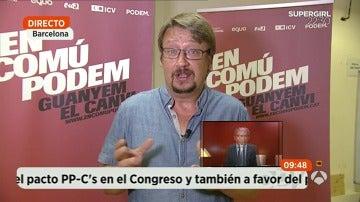 """Domènech: """"La salida a la cuestión de la independencia de Cataluña es la celebración de un referéndum"""""""