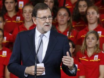 Mariano Rajoy con el Equipo Olímpico Español