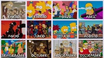 Calendario de Los Simpson 2016