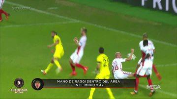 El árbitro no pitó un claro penalti a favor del Villarreal por mano de Raggi