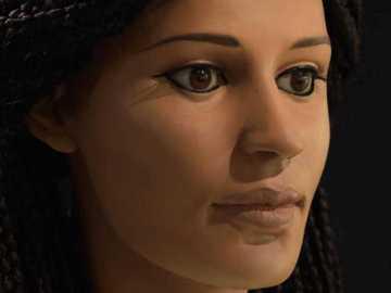 Reconstrucción de la cabeza momificada de una joven egipcia de 18 años