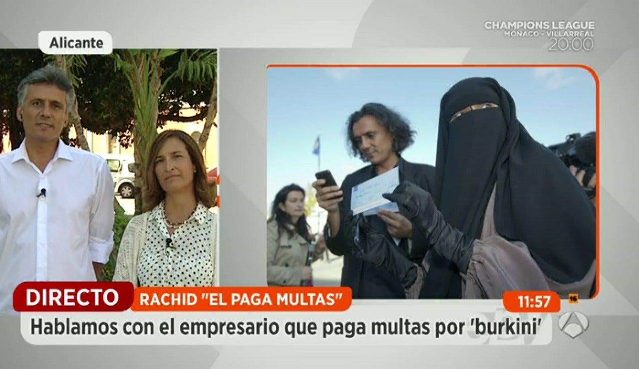 """Un empresario paga las multas de las mujeres que llevan """"burkini"""""""