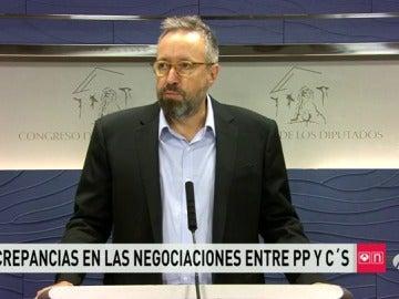 """Ciudadanos asegura sentirse """"preocupado y consternado"""" por la """"falta de voluntad política"""" del Partido Popular"""