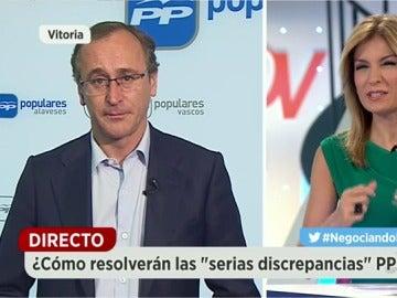 """Alfonso Alonso: """"La responsabilidad el Gobierno no se puede dejar en manos de nacionalistas"""""""