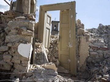 Escombros tras el terremoto en Italia