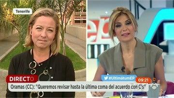 """Ana Oramas: """"Queremos revisar hasta la última coma del acuerdo con C's"""""""