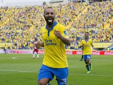 El Zhar marcó el primer gol de la 'manita' de la UD Las Palmas al Granada