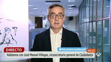"""José Manuel Villegas: """"Hemos sido capaces de hablar con los que entre ellos no son capaces de hablar"""""""