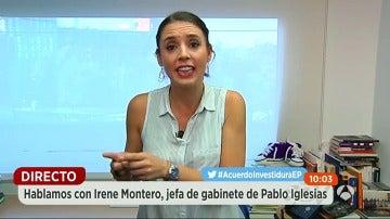 """Irene Montero: """"El PP utiliza a Ciudadanos como un chicle para tapar agujeros"""""""