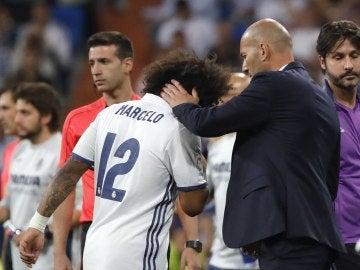 Marcelo se retira por lesión ante el Villarreal