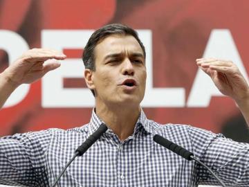 """Sánchez mantiene su """"no es no"""" a Rajoy y vuelve a pedir a Podemos y C's un """"gobierno de cambio"""""""