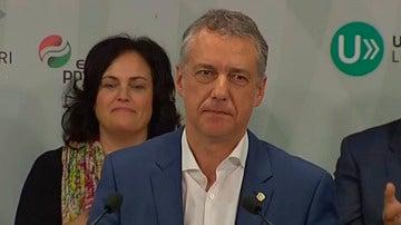 """Urkullu: """"Esta noche comienza el camino de la formación del nuevo gobierno y seguirá siendo necesario el diálogo"""""""