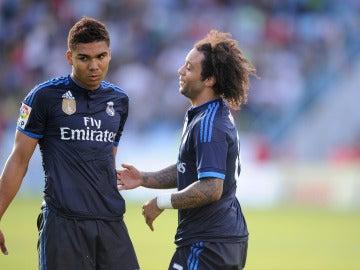 Casemiro y Marcelo, en un partido del Real Madrid