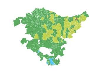 El mapa municipal de las elecciones vascas 2016