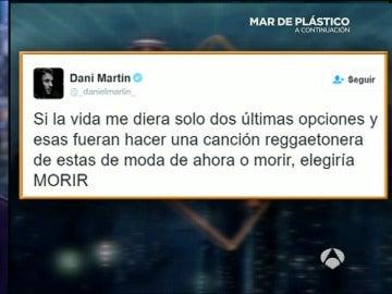 Dani Martín aclara su polémico tuit 'reggateonero'
