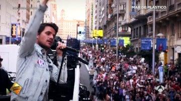 Así colapsó Dani Martín las calles del centro de Madrid para presentar su nuevo disco
