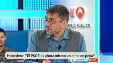 """Monedero: """"Sánchez se está convirtiendo en un tránsfuga de su propio partido, pero tampoco tiene credibilidad"""""""