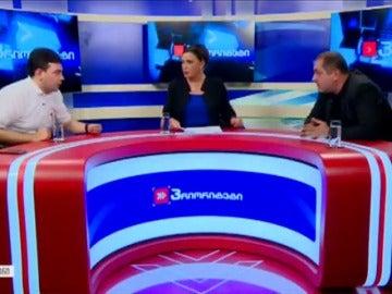 Dos políticos georgianos se lían a golpes en pleno debate televisado