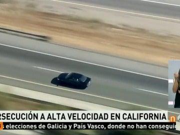 Persecución a alta velocidad de un hombre que amenaza con suicidarse en California