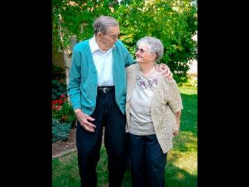 John y Vera celebrando su 77 aniversario
