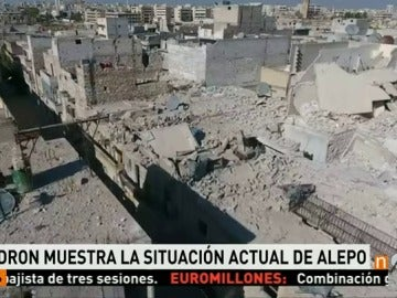 Un dron capta las miserias de la ciudad de Alepo por la guerra de Siria
