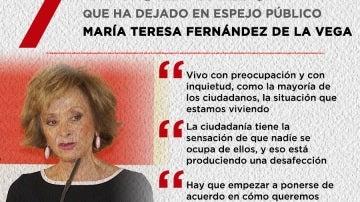 Siete titulares de María Teresa Fernández de la Vega