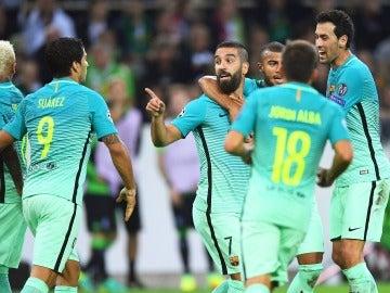 Arda Turan celebra su gol ante el Mönchengladbach