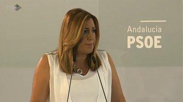 Susana Díaz, tras la reunión de la ejecutiva del PSOE-A