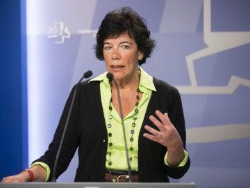 La presidenta de la Comisión de Ética y Garantías del PSOE, Isabel Celaá