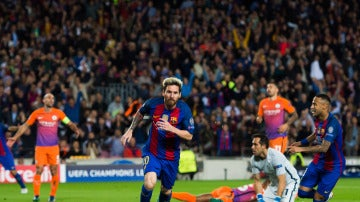 Un hat-trick de Messi tumba al Manchester City de Guardiola
