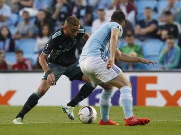 Momento del encuentro entre Celta de Vigo y Ajax