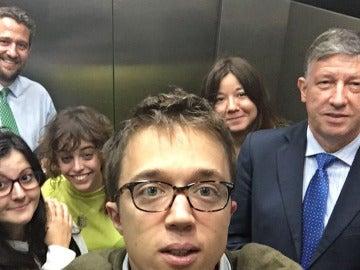 ¿Qué hacen Íñigo Errejón y tres diputados del PP atrapados en el ascensor del Congreso?