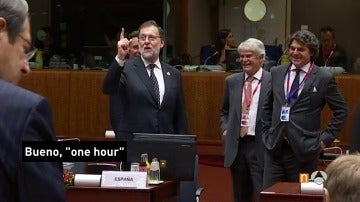 """Rajoy, preguntado por los líderes europeos sobre cuándo será la investidura, se equivoca y responde: """"En una hora"""""""