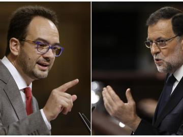 Antonio Hernando y Mariano Rajoy