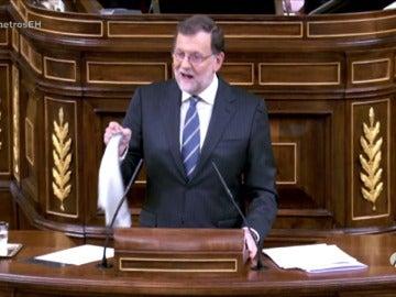 Mariano Rajoy plagia el 'atrásss' de Diego El Cigala