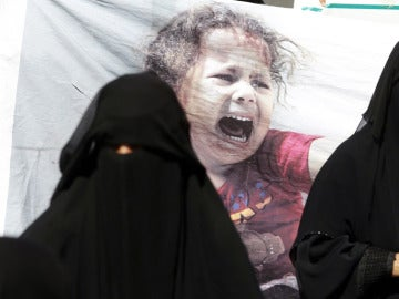 Imagen de archivo de mujeres yemeníes durante una manifestación en el país