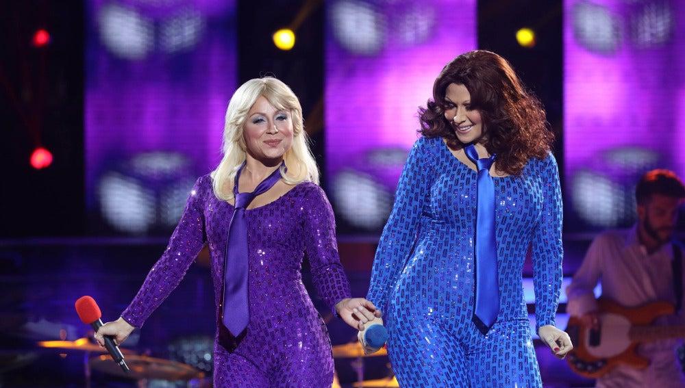 Rosa López y Verónica Romero interpretan a ABBA en 'Tu cara me suena'