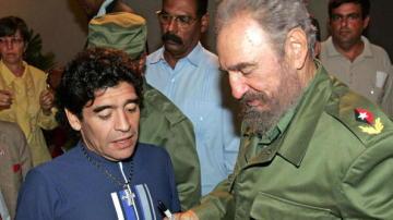 Maradona y Fidel Castro, juntos en Cuba