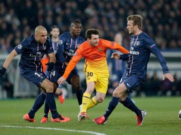 Leo Messi, durante un partido contra el PSG