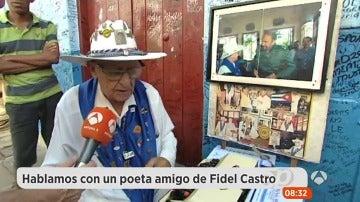 El poeta Orlando Larguardia, simpatizante de Fidel Castro, dedica un poema a Susanna Griso